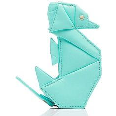 Kate Spade Breath Of Fresh Air Origami Seahorse Coin Purse ($98) ❤ liked on Polyvore featuring bags, wallets, kate spade bags, kate spade wallet, blue evening bag, coin pouch wallet and blue bag
