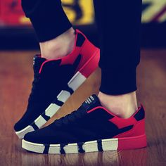 Summer men's sports and leisure flat shoes Peas shoes running men shoes breathable mesh canvas shoes Korean version of the influx of summer - Shadmart.com