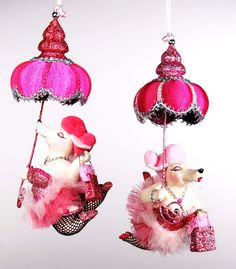 RAZ Santa Paws 5 inch Sequined and Beaded Glass Poodle Ornament ...