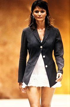 Helena Christensen walked for Rifat Ozbek Runway Show S/S 1994