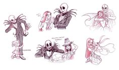 "jack and sally sketches ~  Brianna Garcia ""`bri-chan"""