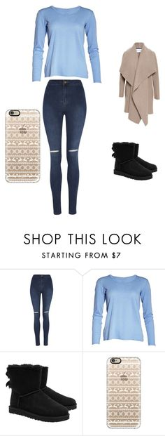 """One day before Christmas "" by lquick4 on Polyvore featuring George, UGG Australia, Casetify and Harris Wharf London"