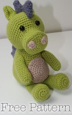 Crochet Dragon Toy - Free Pattern, Easy To Follow