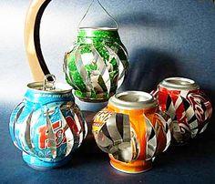 diy soda can lanterns