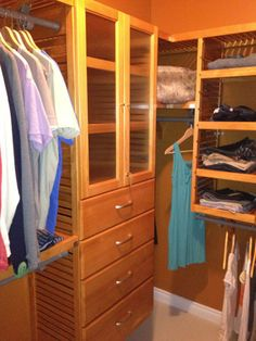 Attirant John Louis Home Honey Maple Closet Installation Made A Few Alterations To  Fit My Clothes/
