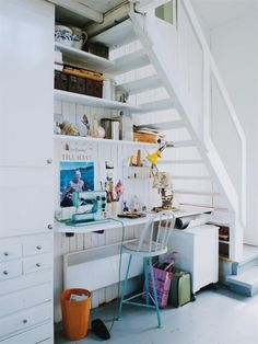 #Lovely little #under-the-stairs #work nook!