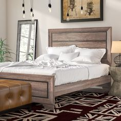 Great places Barnsdall Panel Bed By Trent Austin Design Furniture, Panel Bed, Cool Beds, Bed Sizes, Trent Austin Design, Home Decor, Bedroom Set, Upholstered Platform Bed, Black Bed Linen