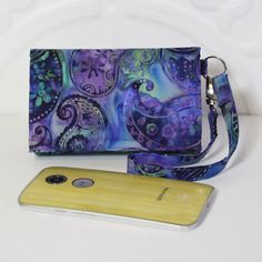 Cell Phone Wallet Wristlet for your Smart Phone With Card by Cucio
