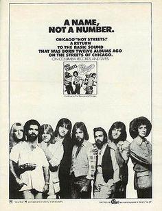1978 Chicago Band AD Hot Streets Album Music Memorabilia Record Promo