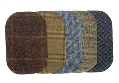 Wool Elbow Patch / 3 sizes / 8 pattern / Wool patches / Embroidery patches / 8 style / Check and Plaid / Checked / Embroidery Patches, Elbow Patches, Wool Cardigan, Metal Buttons, Womens Scarves, Primary Colors, Real Leather, Vintage Ladies, Handmade Items