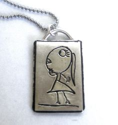 """My Mommy"" Your Child's own Artwork made into a lasting piece of silver jewerly!"