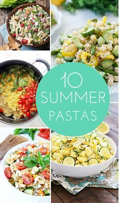10 Family Friendly Summer Pasta Recipes. Perfect to bring for summer parties, BBQ's or picnics!