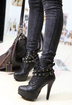 Black High Heeled Pumps find more mens fashion on www.misspool.com