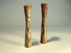 Combarbalita is a Chilean stone from the IV Region and composed of quartz and silica. Artisan Luis Flores and industrial designer Alberto González have explored new shapes and techniques and make flower-shaped candelabras inspired by the local Diaguita heritage.
