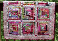 lob cabin baby girl quilt