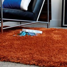 Diva Orange Shiny Polyester Rug by Asiatic Polyester Rugs, Large Rugs, Rug Size, Shag Rug, Diva, Orange, Sparkle, Type, Floral
