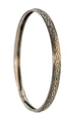 Sterling Silver Danecraft Stacking Bangle by Yourgreatfinds