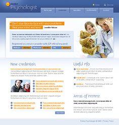 Family Psychologist Website Templates by Glenn