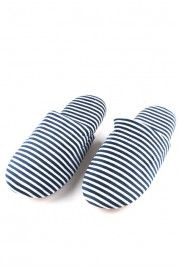 Color Bar Non-slip Suede-bottom Cotton Slippers - Slippers
