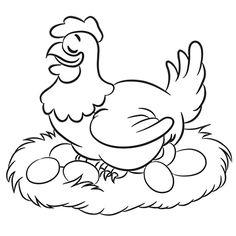 poule pondeuse dessin