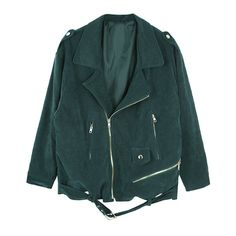 Suede Biker Jacket ($140) ❤ liked on Polyvore featuring outerwear, jackets, tops, coats & jackets, rider jacket, moto jacket, green motorcycle jacket, biker jacket and green jacket
