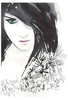 Print of Original Fashion Watercolor by silverridgestudio on Etsy, $100.00