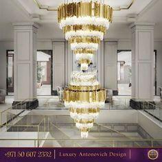 Look at this amazing chandelier! Gorgeous addition to the interior design! Contact us! #antonovichdesign#designinspiration#interiordesign#dubai#instadubai#interiordesigndubai#luxuryinterior#luxuryinteriordecorating#luxuryinteriordesign#unique#furniture#customdesign#highendinteriors#dubaiinteriordesign#abudhabi#doha#qatar#mydubai#hall#room#roomdecordubai#halldesign#chandelier#lightdesign#hotelinteriors - Architecture and Home Decor - Bedroom - Bathroom - Kitchen And Living Room Interior…