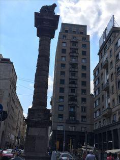 La Colonna del Leone e la Torre Snia in Piazza San Babila - 14 luglio 2017