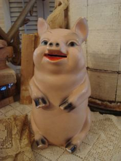Vintage Shabby This Little Piggy Bank by FleaChic on Etsy
