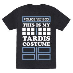 This is my tardis costume! This halloween express your whovian love with this lazy tardis costume!