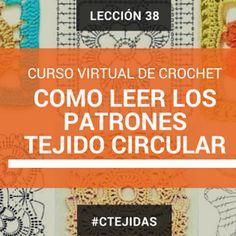 Curso de Crochet: Cómo leer los diagramas a Crochet - Tejido Circular