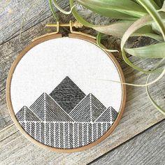 Mountains // embroidery // Stephanie Lapre