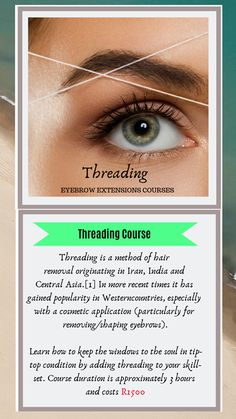 Threading Eyebrows, Hair Removal, How To Remove, Learning, Epilating, Studying, Teaching, Onderwijs