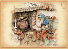 Verzamelgids De Vijf Zintuigen (Efteling) - Wens- en kerstkaarten - Anton pieck collectie - Kabouter