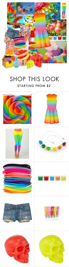 """""""Rainbow"""" by alyssaflint ❤ liked on Polyvore featuring Christopher Kane, Motel, Sari Glassman, ASOS, Zimmermann, rag & bone, Old Navy, Victoria's Secret, D.L. & Co. and Clips"""