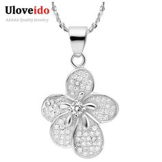 Find More Pendants Information about Uloveido off Fashion Jewelry Necklaces Flower Statement Elegant Women Necklaces … Cheap Necklaces, Cheap Jewelry, Silver Necklaces, Silver Jewelry, Gold Jewellery, Vintage Jewelry, Silver Rings, Fashion Jewelry Stores, Fashion Jewelry Necklaces