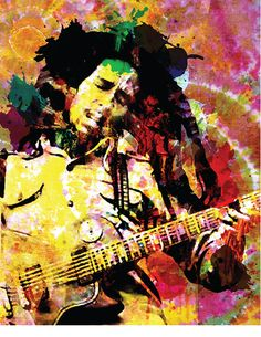 Bob Marley Reggae Art poster by from collection. By buying 1 Displate, you plant 1 tree. Bob Marley Kunst, Arte Bob Marley, Artist Canvas, Print Artist, Canvas Art Prints, Painting Prints, Bob Marley Painting, Reggae Art, Reggae Music