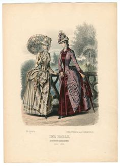 1884-1887, Plate 040 :: Costume Institute Fashion Plates