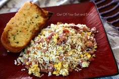 FRIED RICE & HAM- leftover ham,  make Fried Rice & Ham.    I made this and it's great, especially if you add frozen peas and carrots.