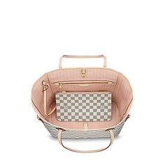 9811a55b26e Damier Azur Canvas HANDBAGS Neverfull MM | Louis Vuitton ® Τσάντες Louis  Vuitton, Γυναικείες Τσάντες