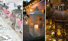 decoracion con faroles para bodas - Buscar con Google