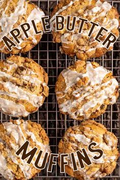 "Big, bakery style Apple Butter Streusel Muffins have a layer of apple butter and crumb streusel, with an apple cider glaze on top. Muffins are one of my many favorite morning breakfasts. I love waking up remembering there is a new ""Lizzy T's"" muffin waiting for me to savor. Especially if it has apple butter and streusel. Best Apple Recipes, Apple Desserts, Apple Butter, Morning Breakfast, Quick Bread, Apple Cider, Pastries, Apples, Glaze"