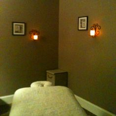 Massage Room, love the candles. I wld put electronic ones in.