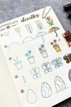 Step By Step Bullet Journal Doodle Tutorials - Crazy Laura : Doodle Anleitungen Looking to add some cute drawings to your bullet journals overall theme but need some ideas? These step by step doodle tutorials will help you get started! Doodle Bullet Journal, Bullet Journal 2019, Doodle Art Journals, Bullet Journal Ideas Pages, Bullet Journal Inspiration, Bullet Journals, Doodle Drawings, Easy Drawings, Planet Drawing