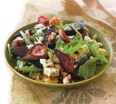 Roasted fig, beetroot, walnut and goats cheese salad - Nadia Lim