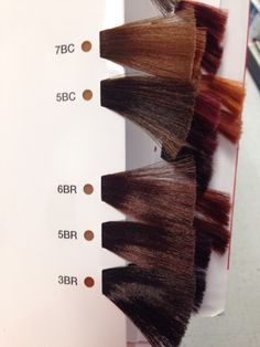 matrix so color brown copper and brown red swatches - Matrix So Color Swatch Book