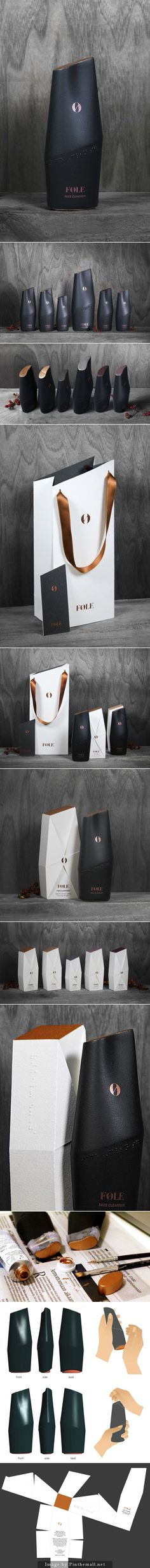 FØLE | I love this organic, luxurious skin care product line | #packaging design by Saana Hellsten PD