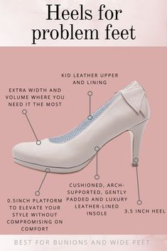06a69f0dea95 Comfortable high heels for problem feet and bunion sufferers! The Sophia  shoe is produced using