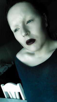 Blocked out brows using gluestick. Blackcupcake
