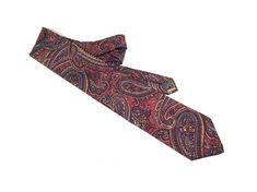 Leonardo Strelli Tie Rack Necktie Silk Paisley Tie Silk